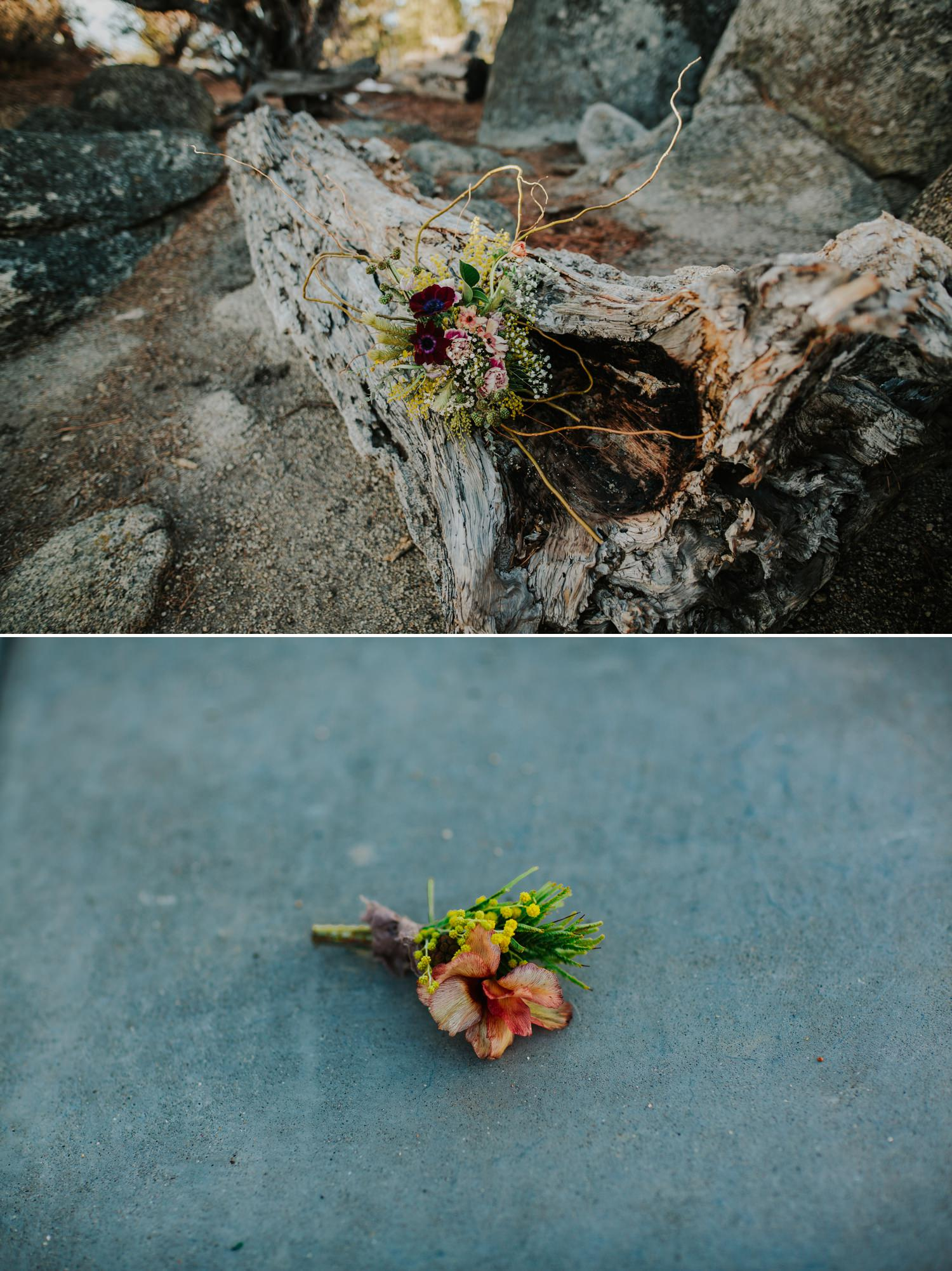 Twine and Dandy boutonnière and wedding bouquet