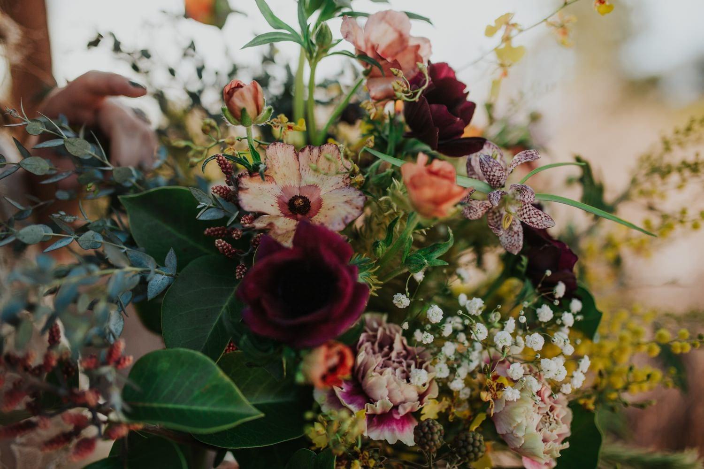 Lake Tahoe wedding bouquet