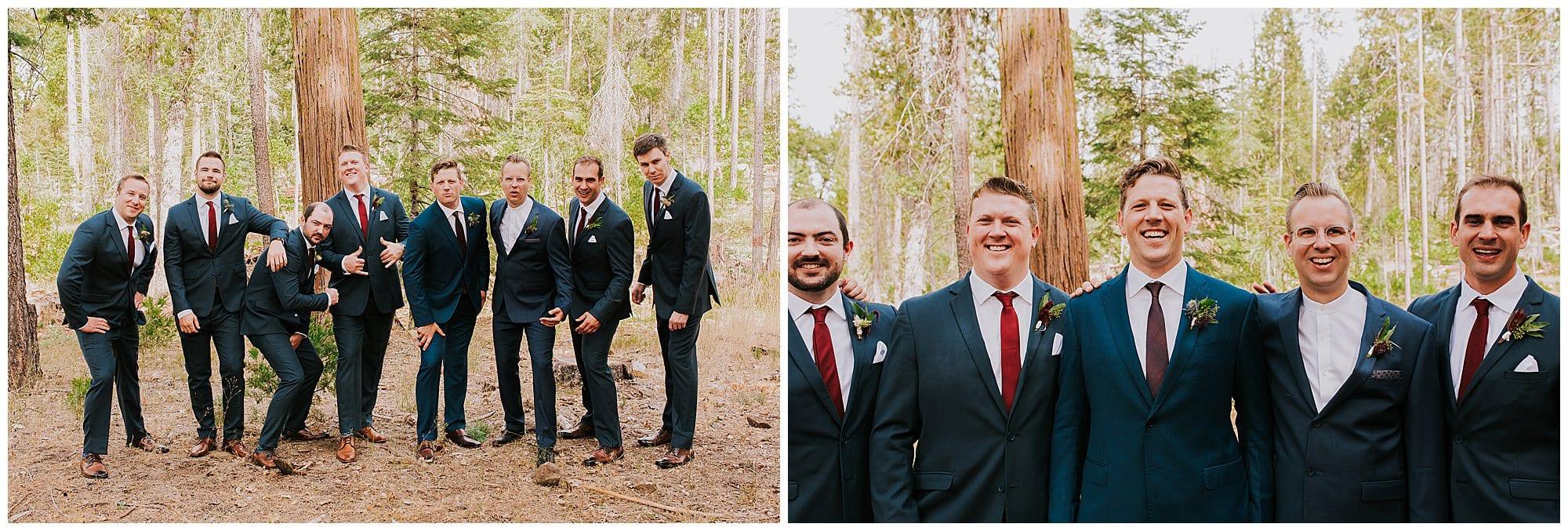 groom and groomsmen portrait before wedding