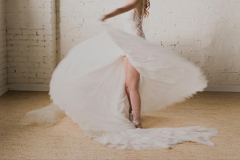 lake tahoe bride twirling