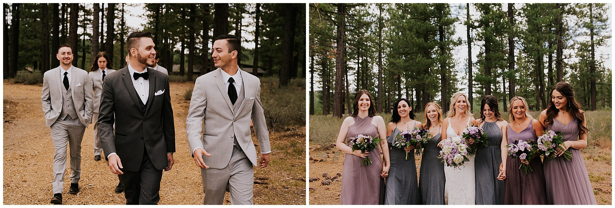 bridal party pictures in outdoor California wedding