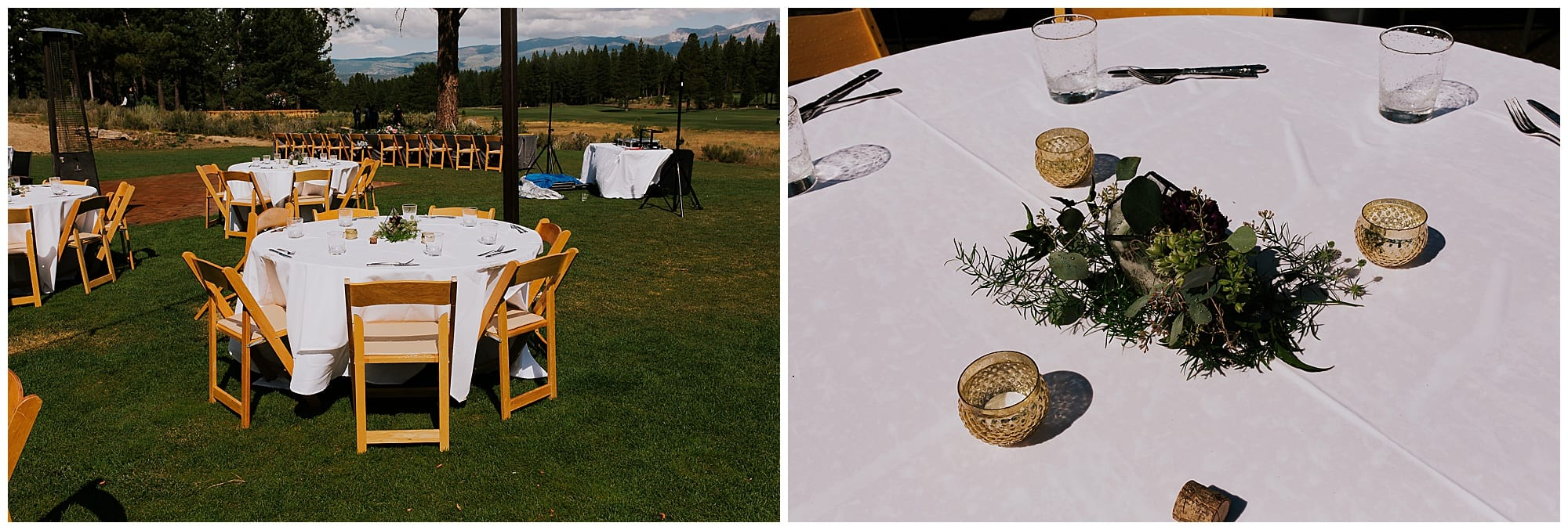 ceremony site at The Crossing in Truckee California