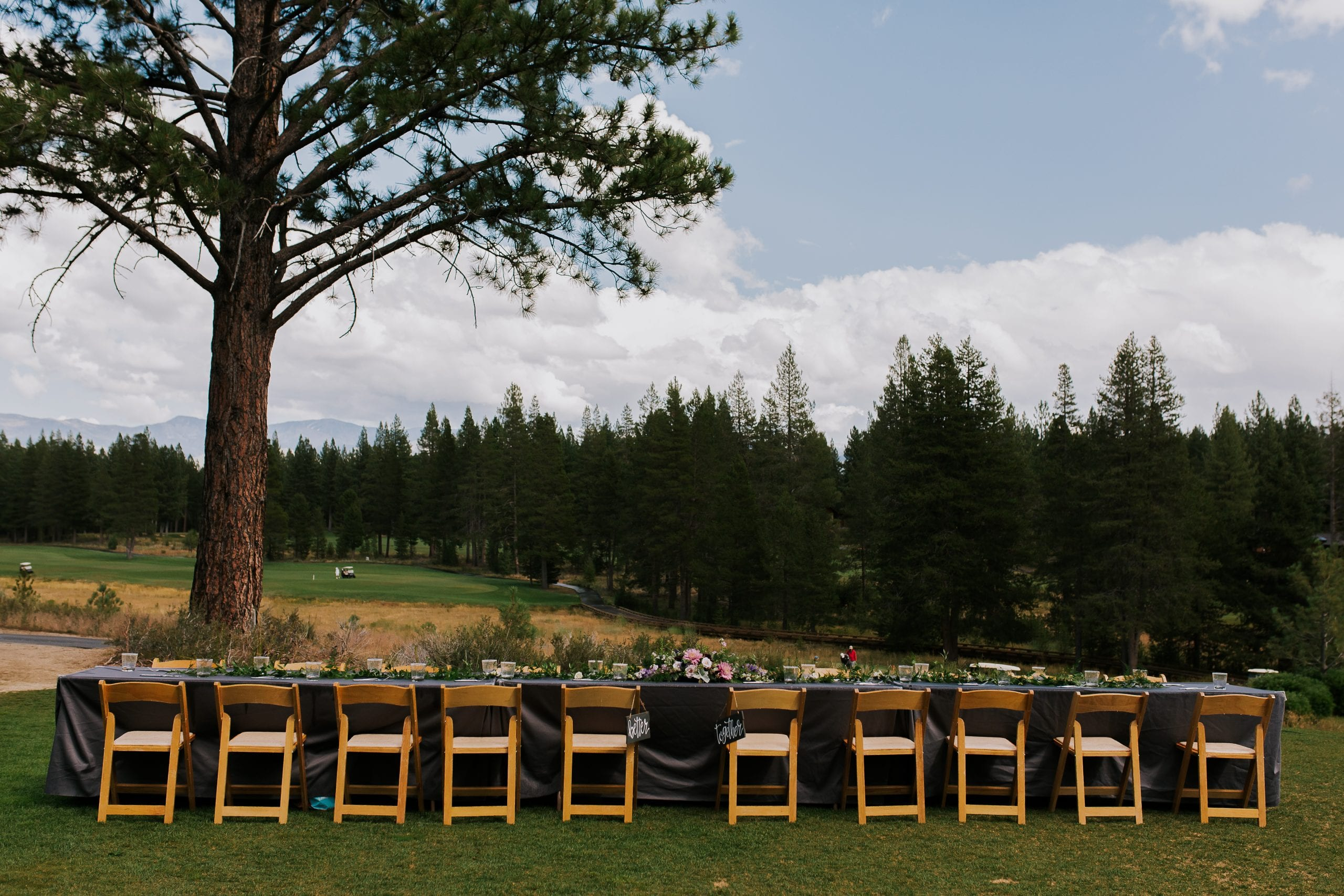 wedding reception site at outdoor Gray's Crossing summer wedding