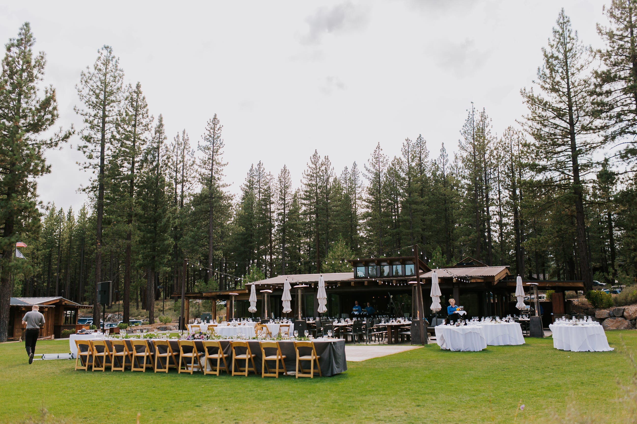 outdoor reception at The Crossing Truckee venue