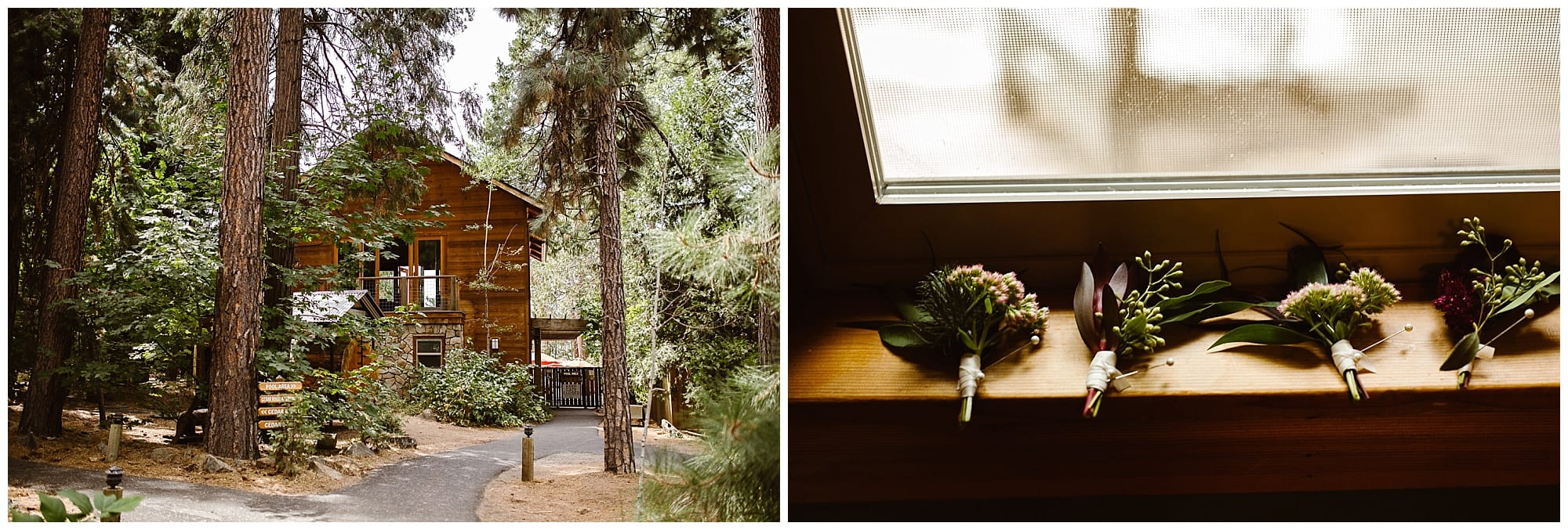 boutonnieres, and Evergreen Lodge