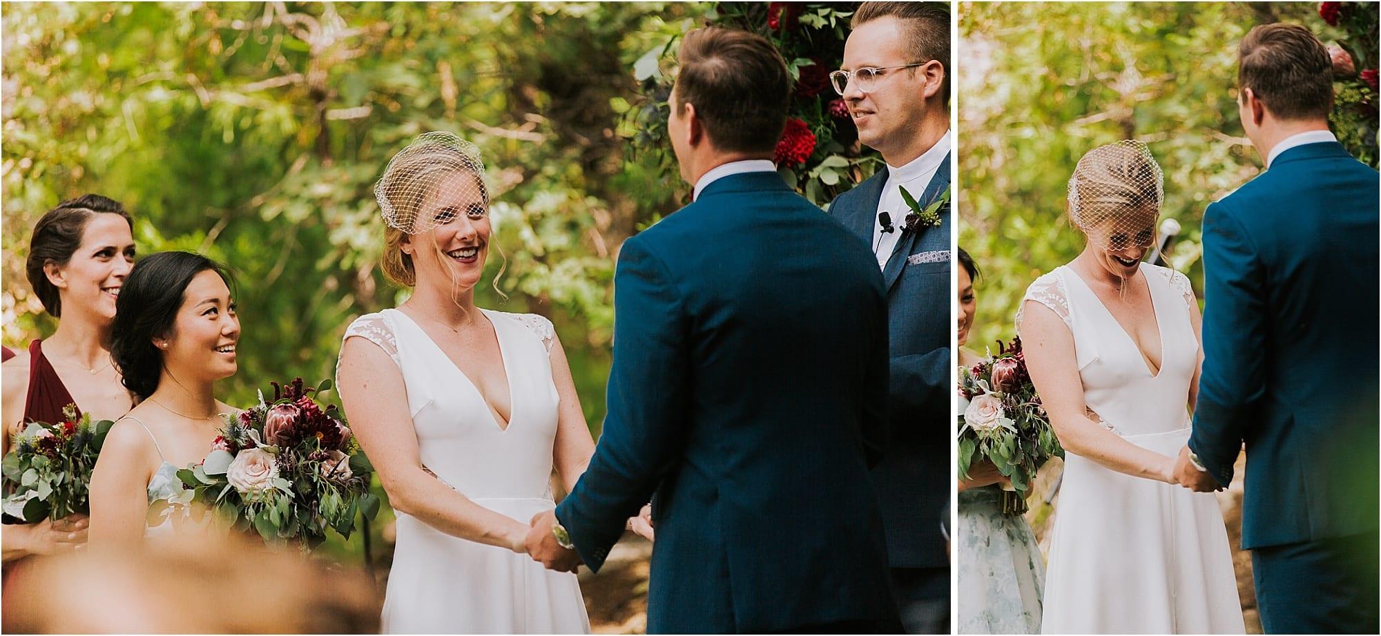 Evergreen Lodge Yosemite outdoor wedding ceremony